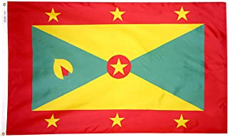 product image for Annin Flagmakers Model 192995 Grenada Flag 3x5 ft. Nylon SolarGuard Nyl-Glo 100% Made in USA to Official United Nations Design Specifications.