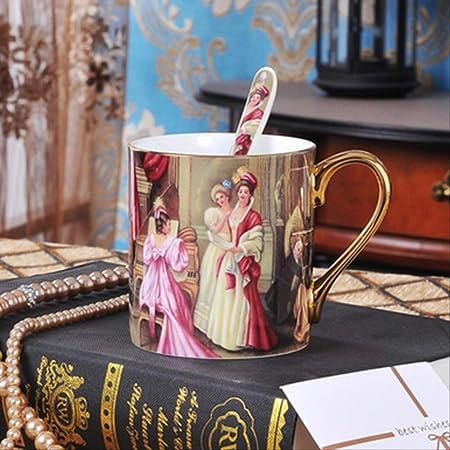 Retro Art Bone China Gustav Klimt Pintura Arte Taza De Café Que ...
