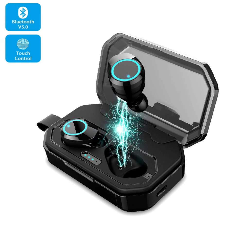 2019 Wireless Earbuds 3D Stereo Sound Bluetooth Headphones iPX7 Waterproof , Bluetooth 5.0 Auto Pairing Touch Control Wireless Sport Earphones Bluetooth Headset with 3000mAh Charging Case