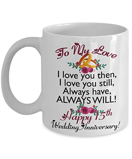 Image Unavailable. Image not available for. Color: 15th Wedding Anniversary Gifts for Men ...