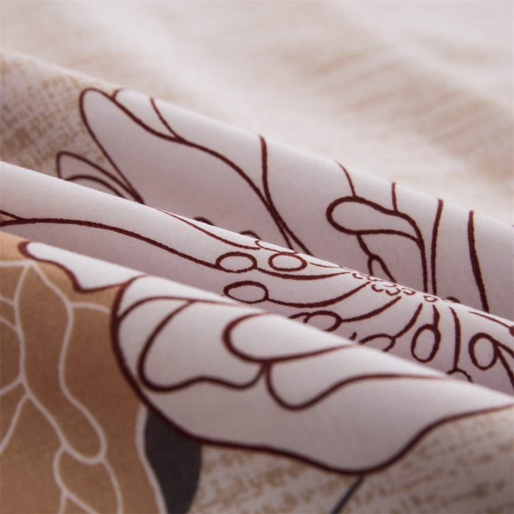 Cama 135 cm Funda de Almohada Flor Lateral Ropa de Cama 200 x 200 cm Stillshine Juego de Funda n/órdica 3D Flowers Purple Red Blue Brown Beige Juego de Cama Funda n/órdica