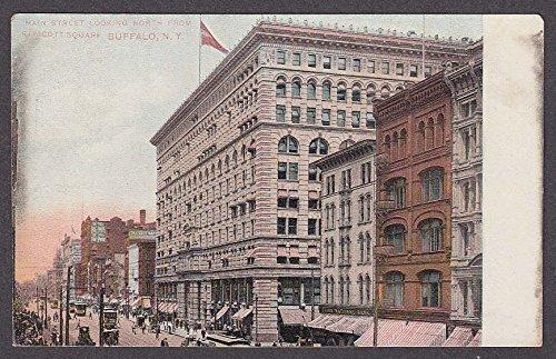 Hotel Iroquois Main St Ellicott Square Buffalo NY undivided back postcard 1900s