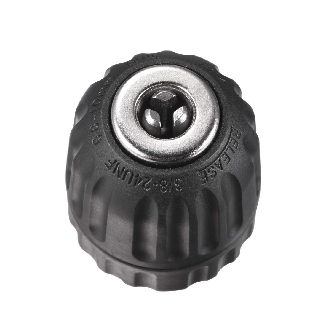 uxcell/® 1//2 Keyless Drill Chuck 3-Jaw Keyless Chuck with SDS-Plus Round Shank 1//2-20UNF to Hold 2-13mm Drill Bits for Impact Driver
