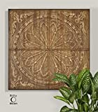 Ambient Real Banana Tree Bark Compressed Over Metal Embossing With A Wood Frame And A Light Antiqued Stain Wall Art
