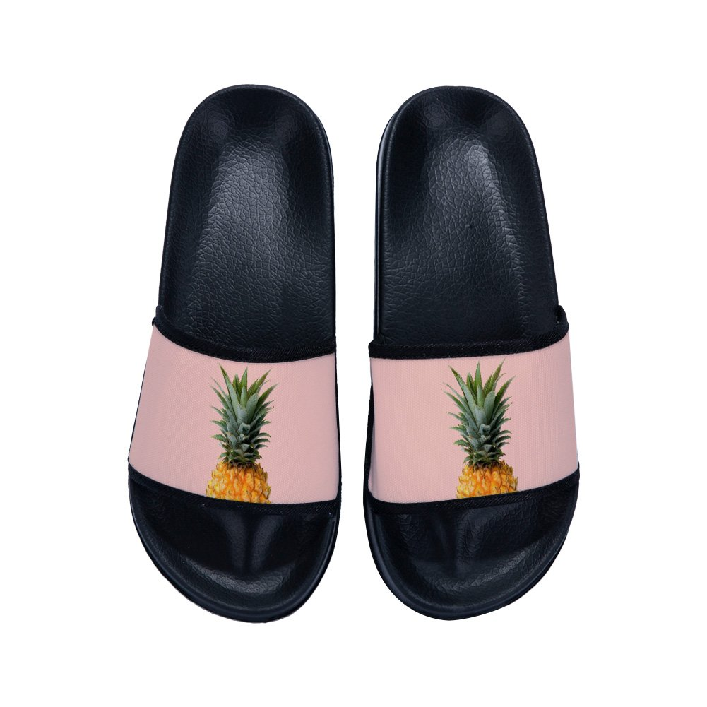 Boys Girls Casual Beach Wear Flip Flops Indoor Floor Slipper Anti-Slip Bath Slippers Pineapple