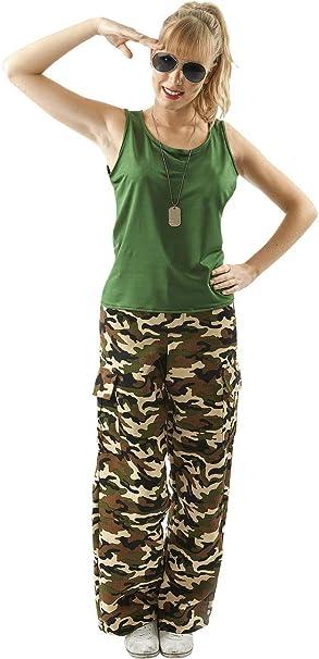 ORION COSTUMES Disfraz de Chica Soldado de Ejército Caqui ...