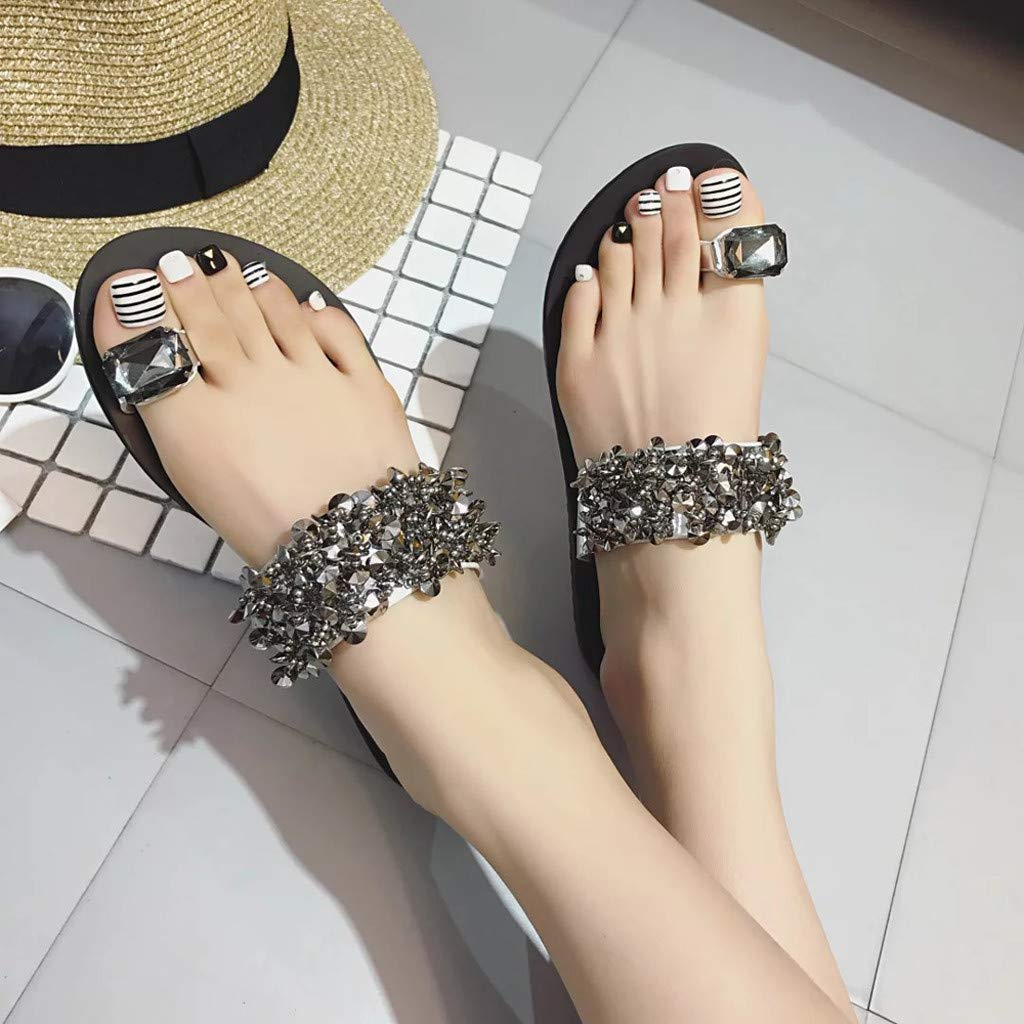 Amazon.com: AOJIAN Shoes Womens Sandals Summer Rhinestone Open Toe ...