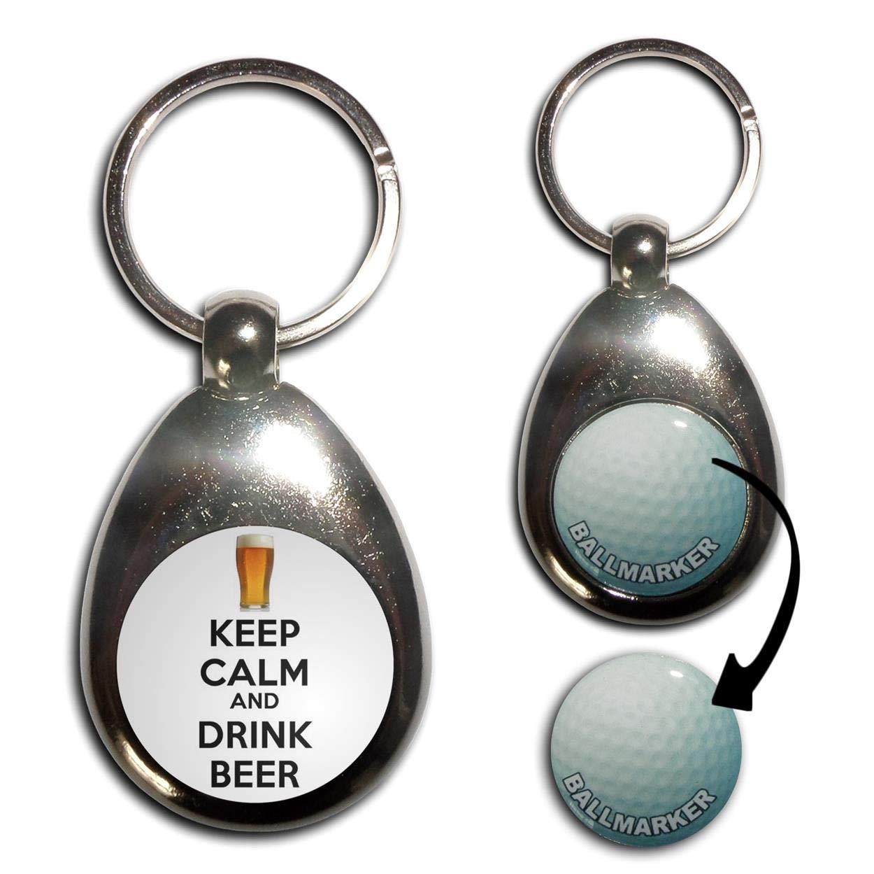 Keep Calm and and Drink Beer – ゴルフボールマーカーキーリング B00JCEZRPS Drink B00JCEZRPS, 本坊酒造 公式通販【】:6c474ced --- awardsame.club