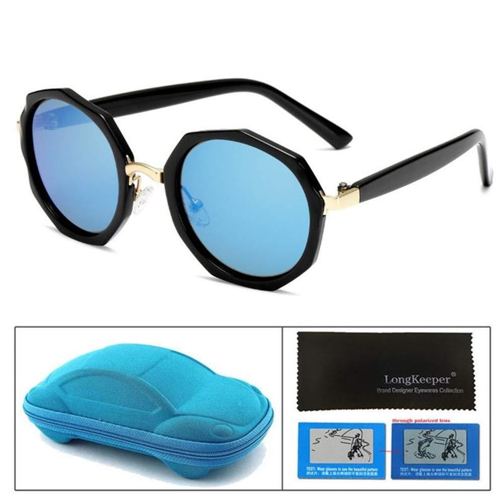 Wang-RX Gafas de sol polarizadas para niños Gafas redondas ...