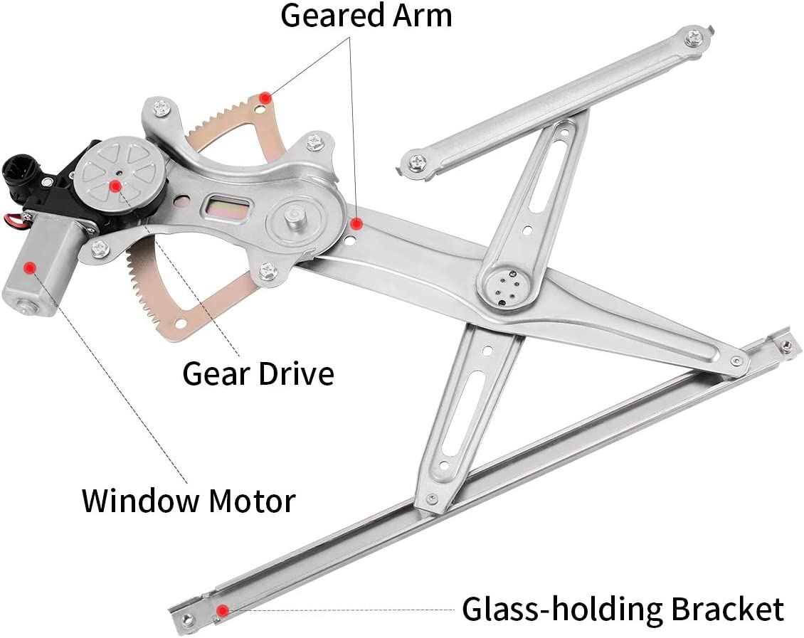 AUTOSAVER88 Front Driver Side Power Window Regulator and Motor Assembly for Toyota Camry 2002-2006 Front Left Driver Side Replace 69802AA030 85720AA050
