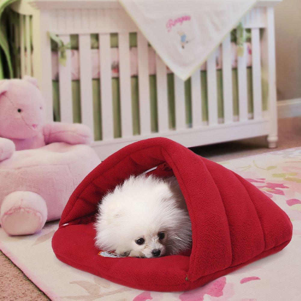 Camas Para Perros,World 9.99 Mall Cueva de mascotas Suave y cálida cama para gatos Casa para perros y gatos(XS/S/M/L) (vino, XS): Amazon.es: Productos para ...