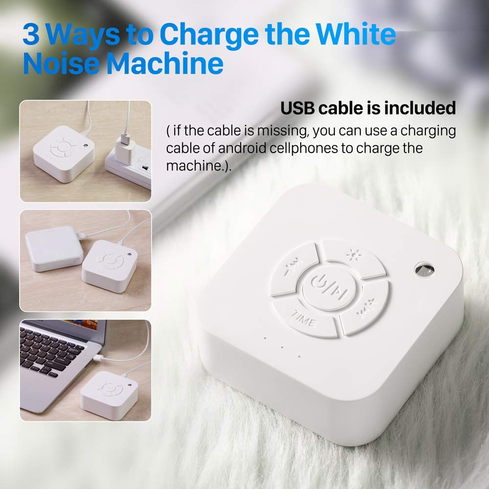 Sound Soother /& White Noise Machine Portable Sleep Sound Therapy White Noise Machine White Noise and Lullabies Moing Sound Machine for Relaxation Sleep Soother with High Fidelity Nature Sounds