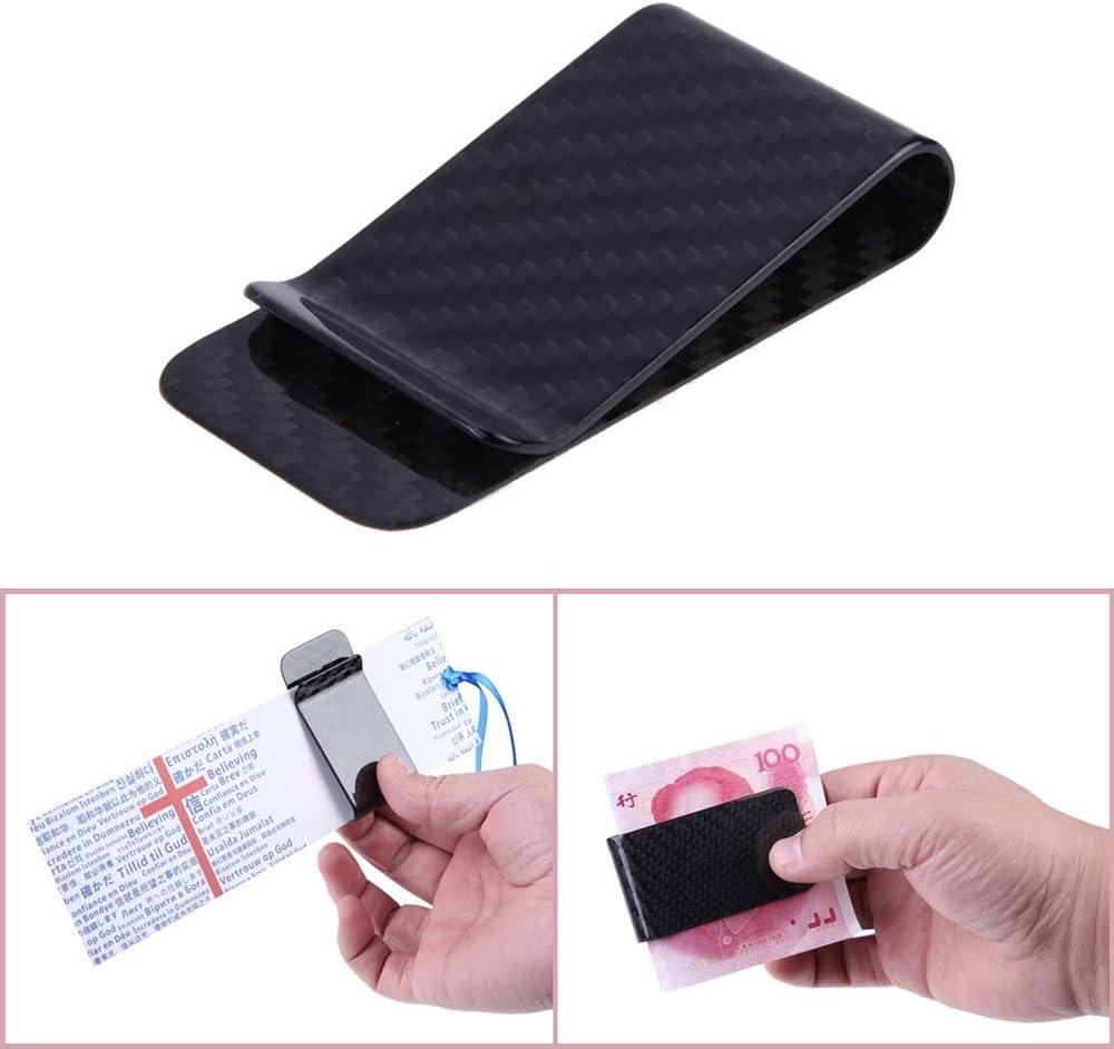 Galapara Carbon Faser Geldscheinklammer Kohlefaser-Money Clip Visitenkarte Cash Kreditkartentasche polierte und Matte f/ür Optionen