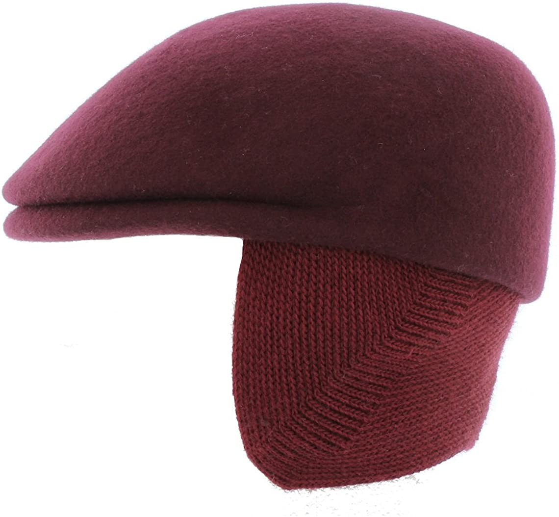 Curzon Classics /'Tayo/' Merino Wool Cap with Neck//Ear Warmer Made in Italy