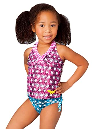 dfe72c14ac Amazon.com  in Gear Girls Wonder Woman Tankini Sizes 2T to 8  Clothing
