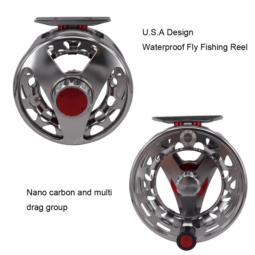 Riverruns Z Rocky V Fly Reel Sealed Waterproof Salt Water Proof Nano Carbon U.S.A Design Fly Fishing Reel