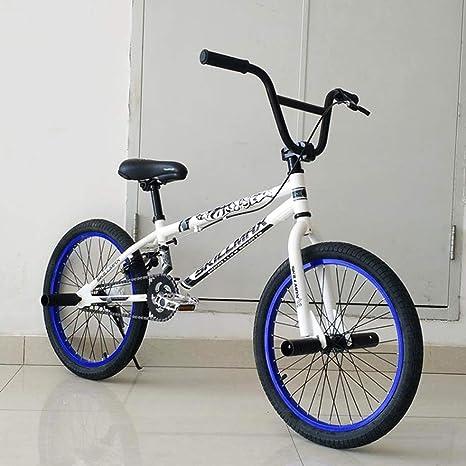 Adultos de 20 Pulgadas Bici de BMX, Profesional de Grado Stunt Acción BMX Bicicletas, aptas para Principiantes de Nivel a los Jinetes avanzados Motos de Calle de BMX,B: Amazon.es: Deportes y aire