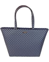 Kate Spade New York Grant Street Jules Polka Dot Tote Bag, French Navy