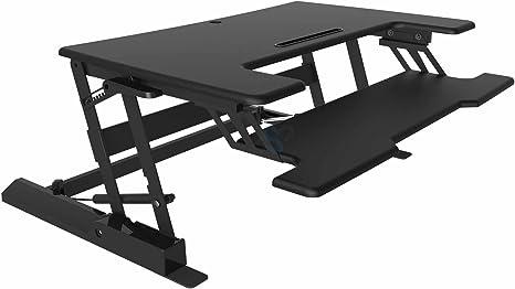HFTEK® mesa para escritorio estación de trabajo escritorio de pie ...