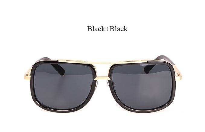 Amazon.com: anteojos de sol Hombre cuadrado de lujo Pareja ...