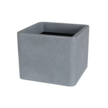 Greemotion Large Plastic Plant Pots Outdoor   Square Flower Pot In Grey    Plastic Plant Pot