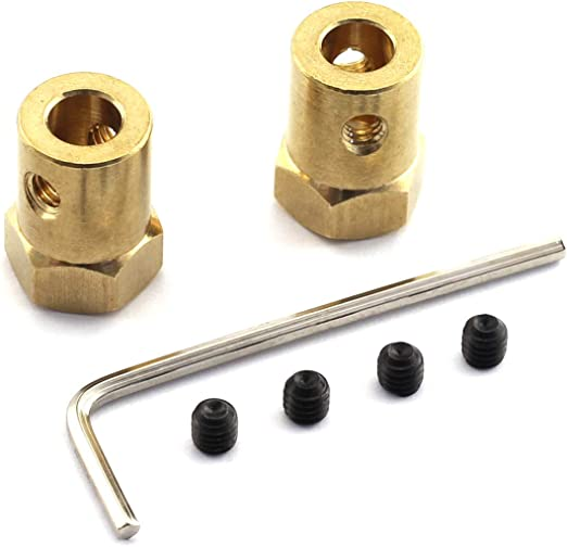 37mm DC Gear Motor L Shaped Bracket Screws Hex Coupler Kit Replacement HI