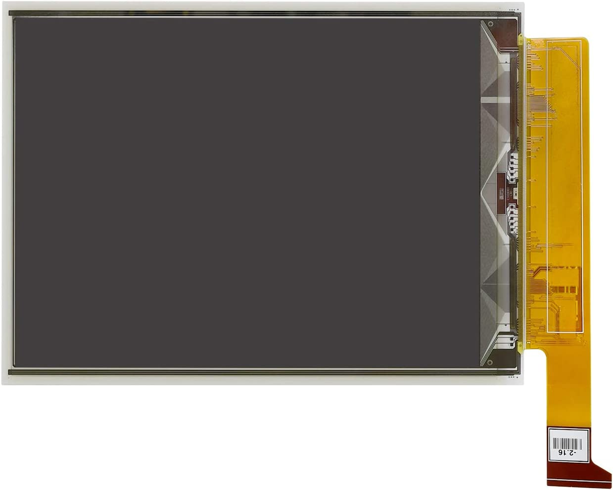 Waveshare 6inch E-Ink Raw Display with 1448/×1072 High Definition Black//White 16 Gray Scale Without PCB Communicating via Parallel Port Supports Partial Refresh.