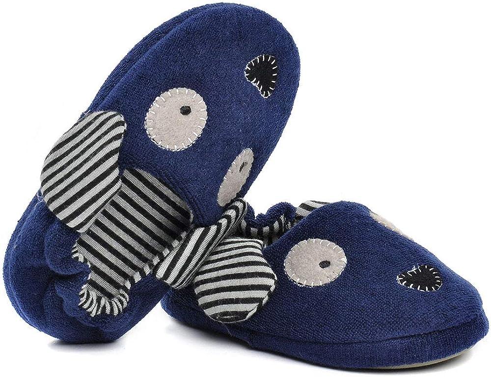Ksnrang /Jungen Winter Kleinkind Doggy Hausschuhe Cartoon Puppy h/äkeln Rutschfeste warme Indoor Home Schuhe
