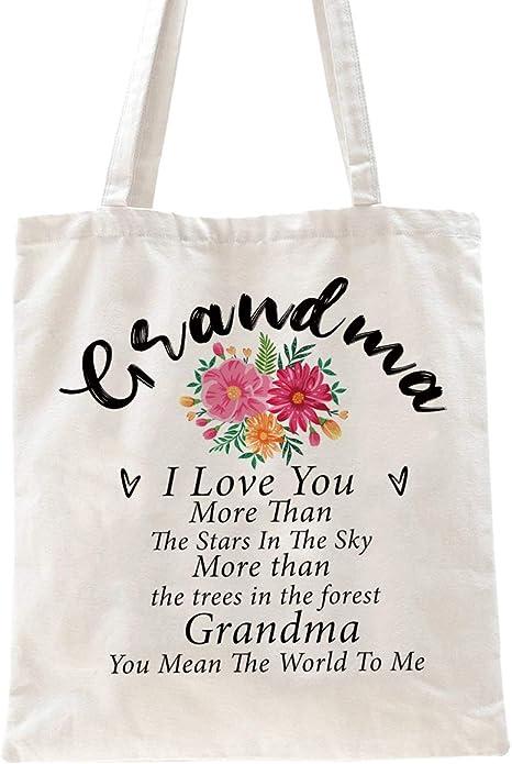 Monogrammed Gift Grandma Tote Bag Grandma Tote Bag Greatest Blessings Nana Tote Bag Personalized Tote Bag
