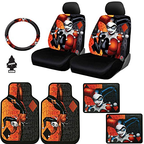 harley quinn seat covers for cars - 4