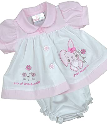 915052e14 Babyprem Premature Baby Dress Knickers Set Bunny Preemie Girl Clothes 3lb -  8lb: Amazon.co.uk: Clothing