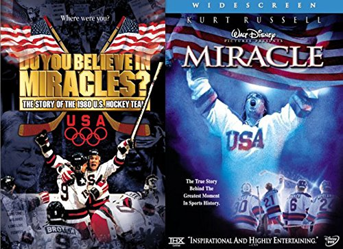 Disney Miracle Widescreen & Do You Believe in Miracles? The Story of the 1980 U.S. Hockey Team DVD 2 Pack Sport Drama Movie Set