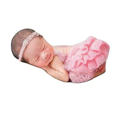 vemonllas newborn girl photography props baby crochet outfits