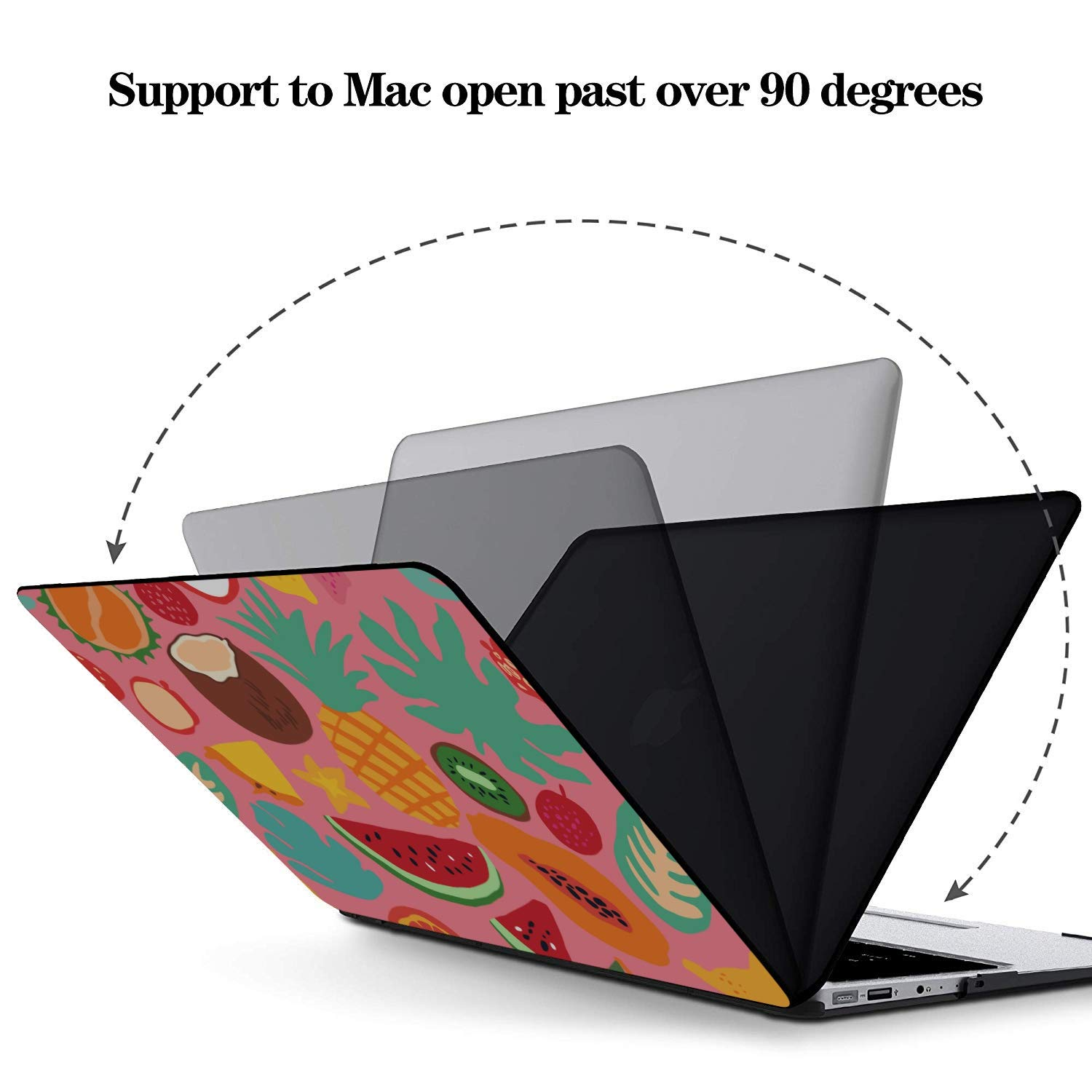 MacBook 13 Cover Summer Fashion Cool Fruit Papaya Plastic Hard Shell Compatible Mac Air 11 Pro 13 15 Air Case Protection for MacBook 2016-2019 Version