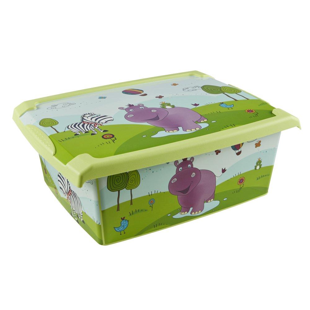 Okt 1270226201200 - Caja de almacenaje (10 L), diseño de hipopótamo 1270000104000