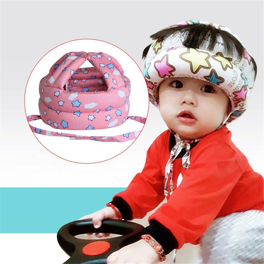 Per bambino protezione testa casco traspirante cappello per neonati e  bambini imparare a camminare e testa guardia cuscino con cinghie regolabili e2854eb15c31