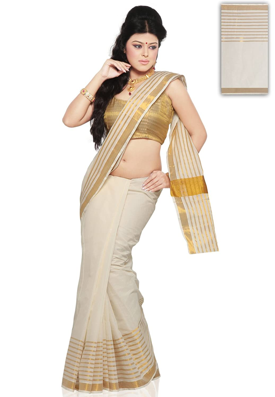 Utsav fashion shopping bag - Utsav Fashion Cotton Saree With Blouse Spv76_cream Amazon In Clothing Accessories