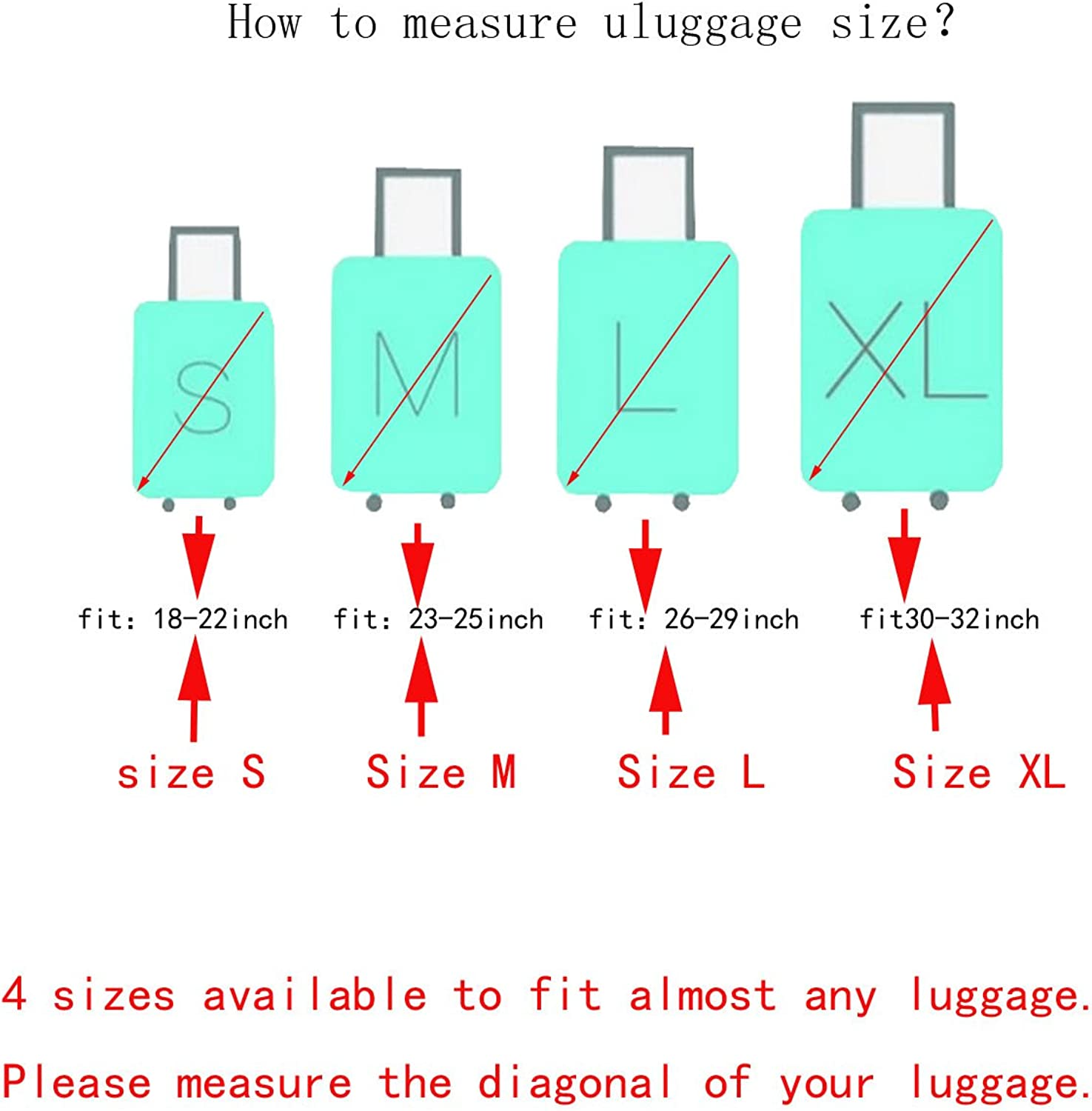 18-32 Inch Colourful Print Elastic Protective Luggage Cover BOPEPA
