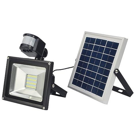 Zyurong ®, 20W LED solar con detector de movimiento para panel solar 12 V,