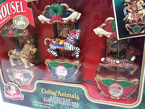 Mr. Christmas Carousel Ornaments Circus Animals - A String of 3 Carousel Figures Ride Continuously by Mr. Christmas (Image #2)
