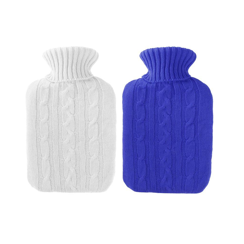 Gazechimp 2 Piezas 2000ML Bolso de Botella Gruesa de Agua Caliente Mantener Temperatura de Agua Invierno