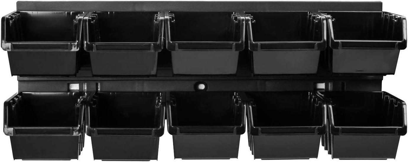 Stapelboxen Sch/üttenregal Sichtlagerk/ästen Extra Starke Wandplatten 8 stck Werkstattregal Lagerregal Werkstattwandregal Steckregal Lagersystem Wandregal 390 x 130 mm Regal Erweiterbar Box