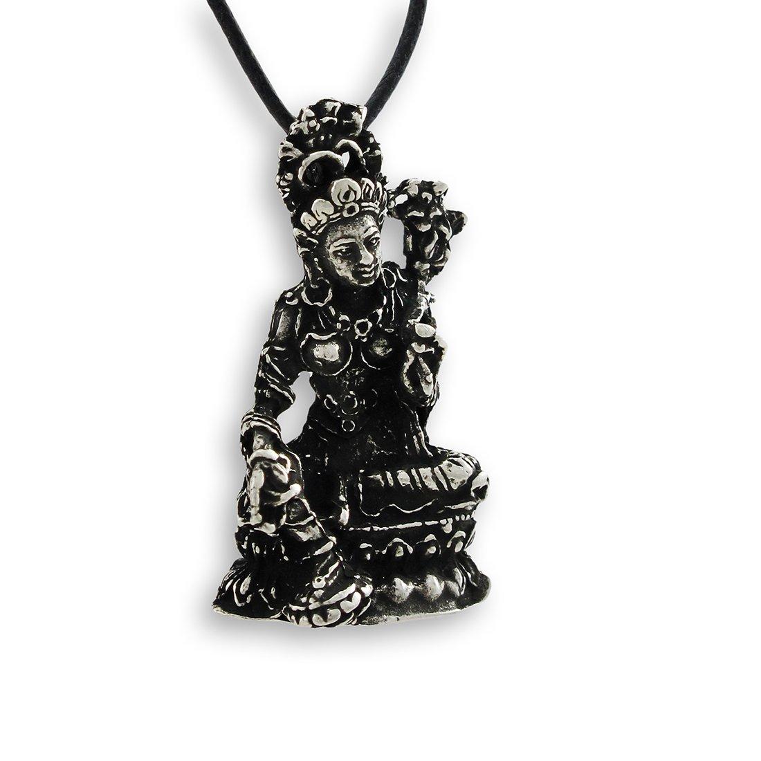 Things2Die4 Buddhist Mother Goddess Tara 3-D Pewter Pendant