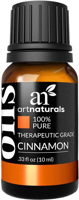 ArtNaturals 100% Pure Cinnamon Leaf Essential Oil - (.33 Fl Oz / 10ml) - Undiluted Therapeutic Grade - Vitality Wellness and Warmth