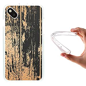 WoowCase - Funda Gel Flexible { Wiko Sunset 2 } Madera Antigua Carcasa Case Silicona TPU Suave