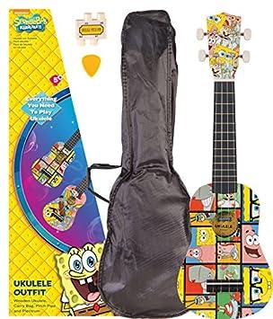 Diseño de Bob Esponja - diseño de personajes de traje de ukelele: Amazon.es: Instrumentos musicales