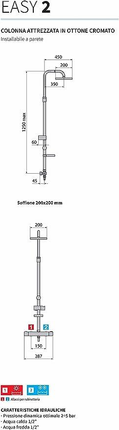 Novellini columna ducha Easy 2 con mezclador termostático y ...