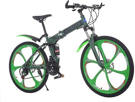 Bicicleta de montaña de 26 pulgadas plegable bicicleta 21 ...