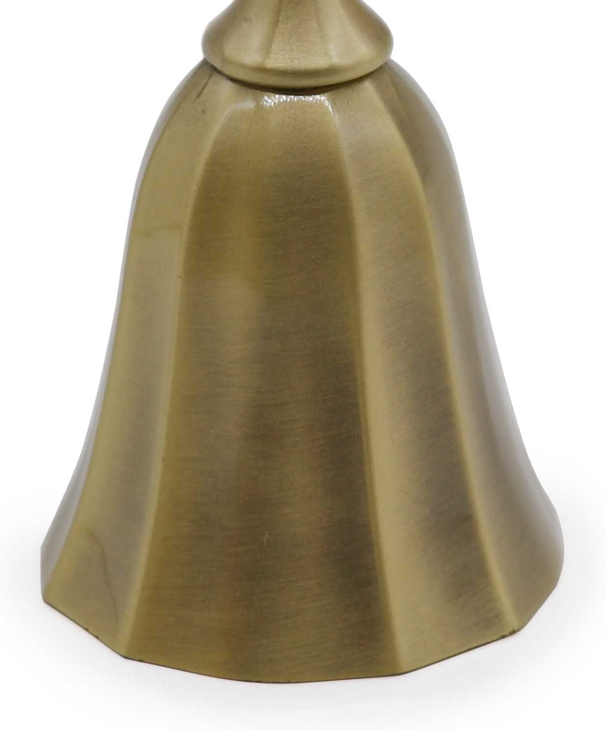 Metal Loud Call Bell Alarm Hand Held Service Call Bell Desktop Bell Tea Dinner Bell Game Bell AVESON Hand Bell Bronze Christams Bell