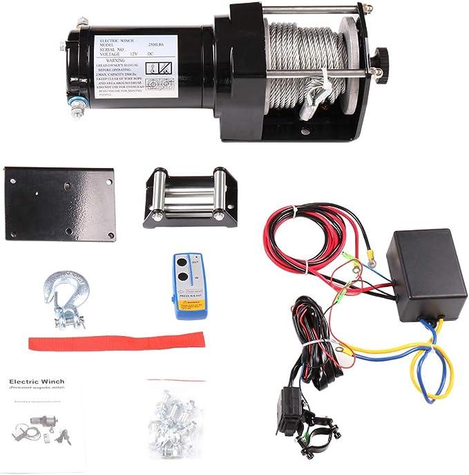 50 Feet Gazechimp Wireless Winch Trailer Remote Control Kit 12V ...